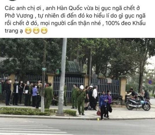 Người Hàn Quốc chết bên vệ đường ở Bắc Ninh không phải do Covid-19