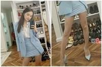 Thiếu photoshop, đôi chân của Hương Giang lộ nguyên hình... 'que củi'