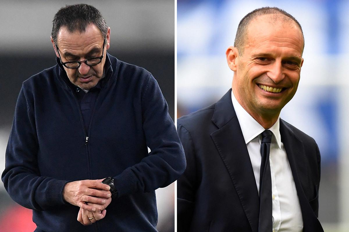 Juventus họp khẩn sa thải Sarri, đưa Allegri trở lại