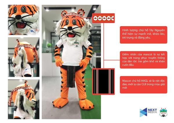 Ra mắt linh vật chú hổ rừng Tây Nguyên của CLB HAGL