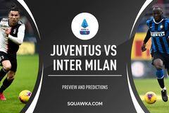 Xem trực tiếp Juventus vs Inter Milan ở đâu, kênh nào?