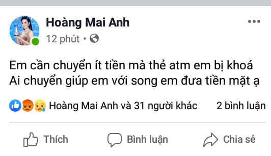 Bị cướp facebook, diễn viên Mai Anh kêu trời vì bạn mất oan 65 triệu