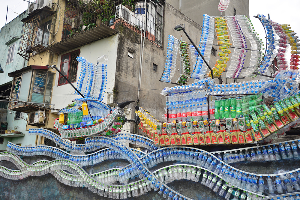 Art space from recycled materials