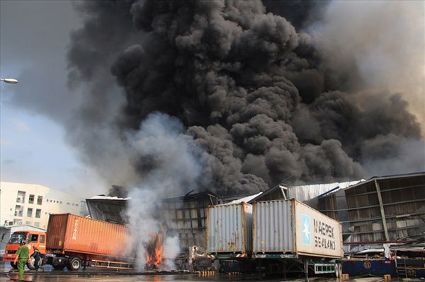 Wood-processing factories face fire risks during dry season