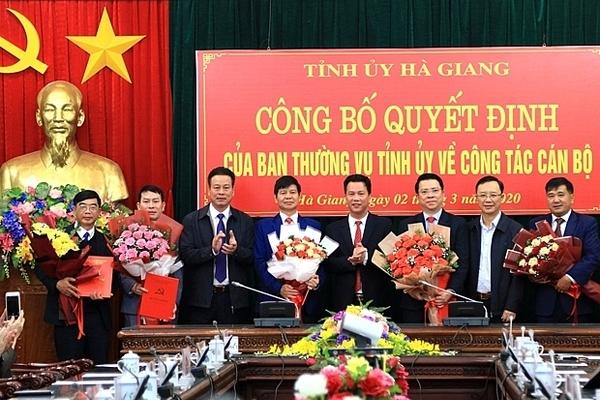 5 tỉnh bổ nhiệm nhân sự lãnh đạo
