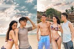 Lộ diện người đàn ông tình tứ cùng Hương Giang bên bờ biển