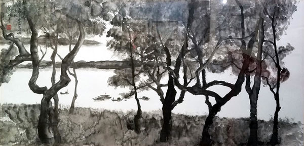 Exhibition featuring ink wash paintings by five artists opens in HCM City