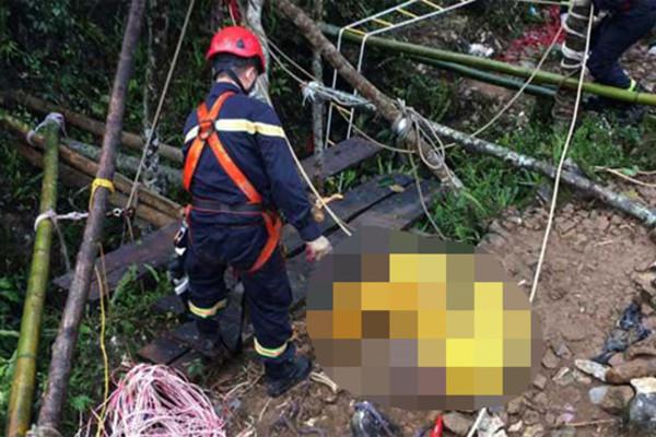 Tìm thấy 2 thi thể nam nữ dưới khe sâu 250m ở Hà Giang