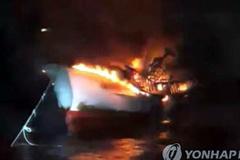 Cháy tàu cá ở Hàn Quốc, 5 thuyền viên người Việt mất tích