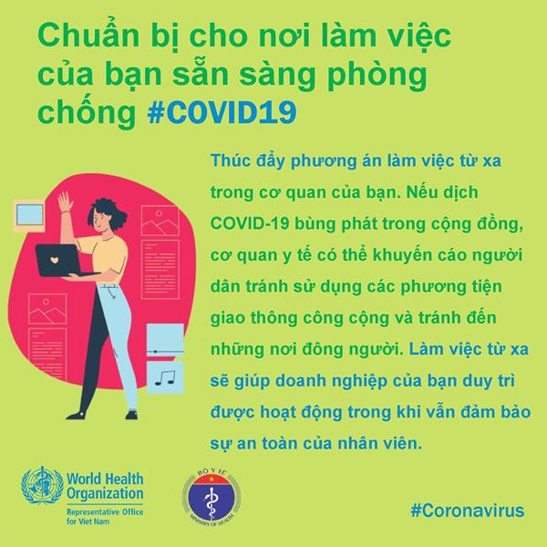 WHO khuyến cáo 6 việc quan trọng với dân công sở để tránh Covid-19