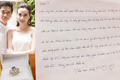 Lưu Hương Giang khoe nhẫn kim cương Hồ Hoài Anh tặng kèm lá thư ngọt ngào
