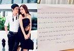 Hồ Hoài Anh viết thư tay gửi Lưu Hương Giang: 'Cảm ơn em đã hy sinh'