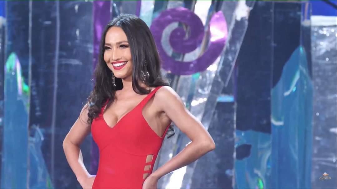 Hoài Sa trình diễn áo tắm bốc lửa ở bán kết Hoa hậu Chuyển giới