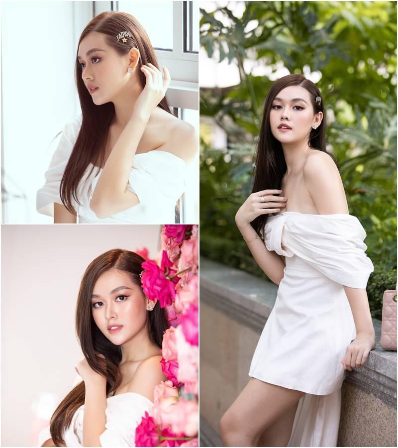 Đỗ Mỹ Linh, Lương Thùy Linh, Tường San khoe vai trần gợi cảm
