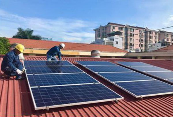 EVN,rooftop solar projects,installed