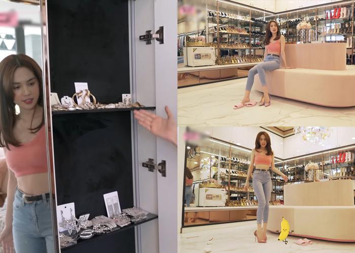 Ngọc Trinh khoe phòng ngủ triệu đô và hàng hiệu đắt tiền