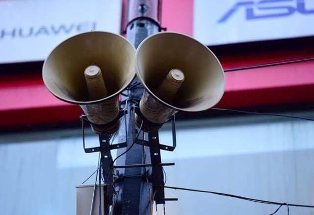 Loudspeakers transmit COVID-19 developments in Vietnam