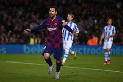 Messi lập công, Barca tạm chiếm ngôi đầu