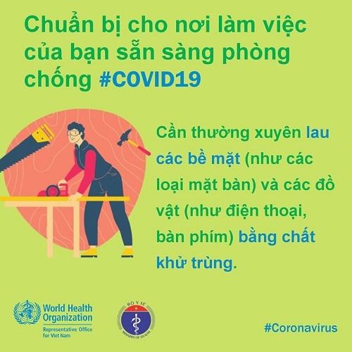 Cách phòng chống Covid-19 tại nơi làm việc theo khuyến cáo của WHO