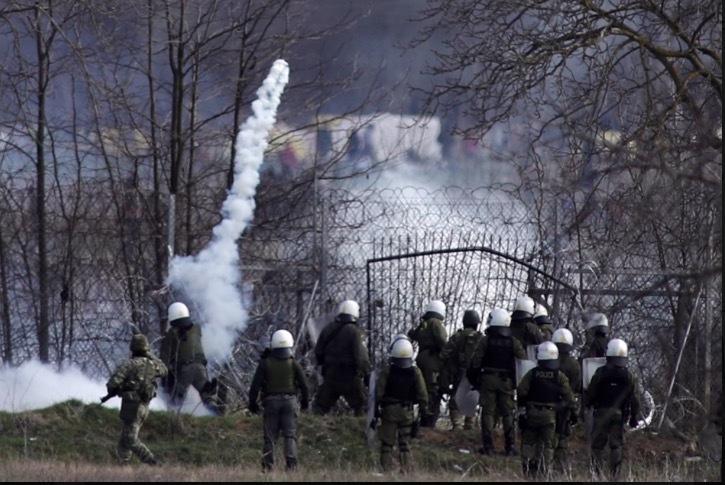 The Greek-Turkish border is engulfed in smoke