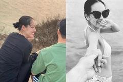 Phương Linh khoe bạn trai giấu mặt sau 10 năm bị đồn yêu Hà Anh Tuấn