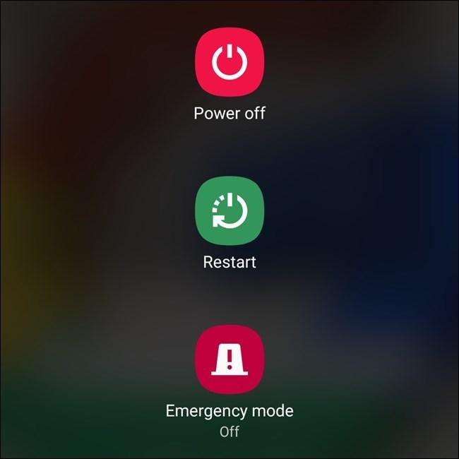4 cách tắt máy hoặc khởi động lại Galaxy S20