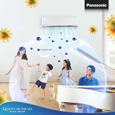 Công nghệ lọc khí Panasonic ức chế nhiều loại vi khuẩn, virus