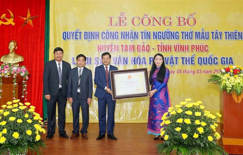Công nhận 'Tín ngưỡng thờ Quốc Mẫu Tây Thiên' là di sản văn hóa phi vật thể Quốc gia