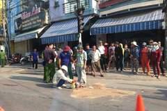 Va chạm với xe container, 1 phụ nữ tử vong ở Bình Định