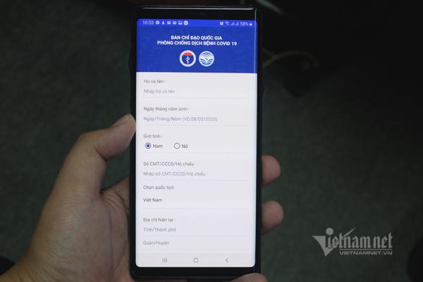 Ứng dụng khai báo sức khỏe NCOVI lọt top tìm kiếm tại Việt Nam