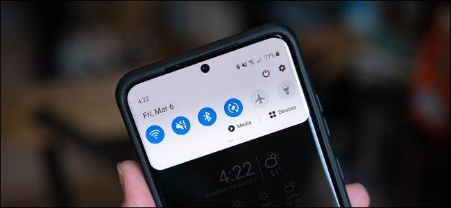 Cách mở nhanh trung tâm thông báo trên Galaxy S20