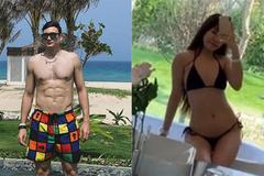 Đi nghỉ dưỡng, Văn Lâm và hot girl phòng gym khoe body 'nghẹt thở'