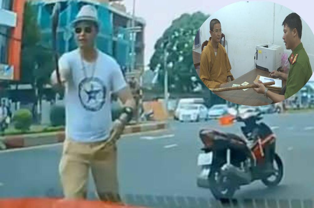 Đình chỉ vụ án thầy chùa 'múa gậy' đập vỡ kính ô tô ở Đắk Lắk