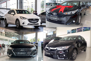 Xe sedan hạng B tháng 2: Toyota Vios đánh bại Hyundai Accent