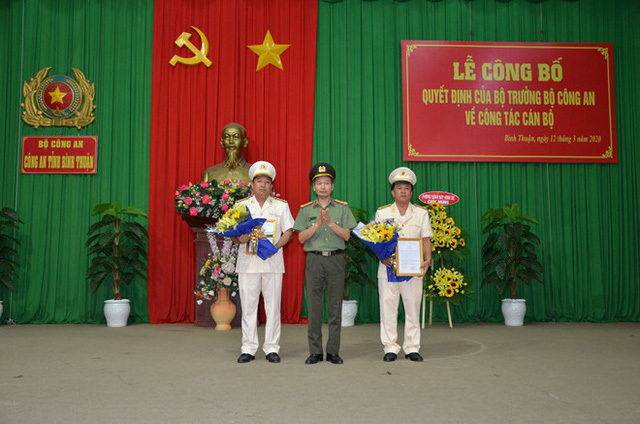 Bộ trưởng Công an bổ nhiệm 2 Phó giám đốc công an tỉnh Bình Thuận