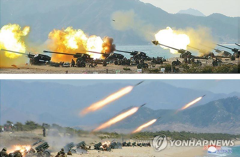 Kim Jong Un thị sát pháo binh Triều Tiên