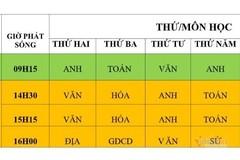 Lịch phát sóng chương trình học trên truyền hình cho học sinh Hà Nội từ 16 đến 21/3