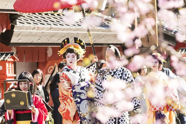 Mùa xuân tuyệt đẹp ở Edo Wonderland