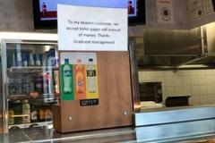 Nhà hàng chấp nhận thanh toán bằng giấy vệ sinh