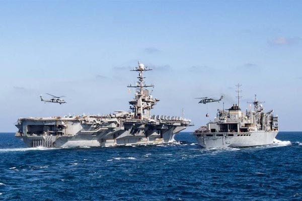 Mỹ duy trì hai biệt đội tàu sân bay ở Vùng Vịnh chống Iran