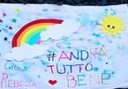 Tranh vẽ cầu vồng của các em bé lan truyền khắp Italia