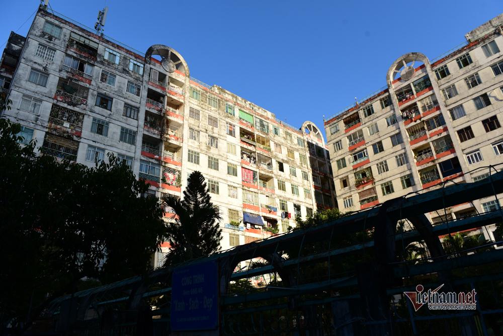 Cảnh tiếp nhu yếu phẩm vào khu cách ly chung cư hơn 1.000 dân ở quận 10