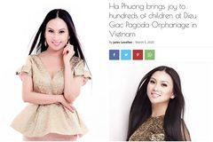 Ca sĩ tỷ phú Hà Phương xuất hiện trên tờ báo nổi tiếng của Mỹ