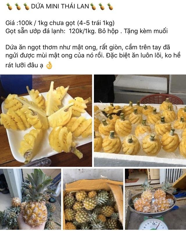 TP.HCM: Dân sành ăn 'đổ xô' mua dứa mini Thái giá cao
