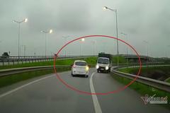 Xe tải ngược chiều vun vút phóng vào cao tốc Hà Nội – Thái Nguyên