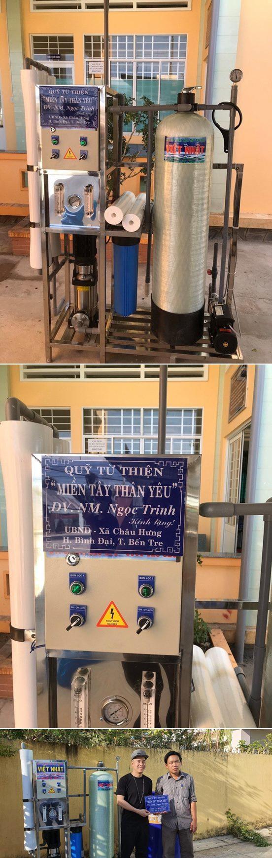 Lý Hải Ngọc Trinh gom gần 1 tỷ lắp máy lọc cứu hạn mặn