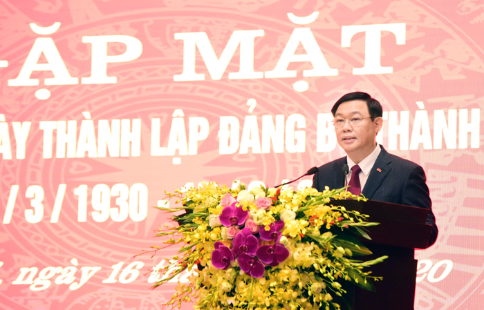Ông Vương Đình Huệ: Chung sức xây dựng thủ đô văn minh, hiện đại