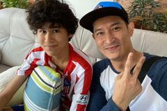 Con trai 14 tuổi đẹp trai, cao ráo của diễn viên Huy Khánh