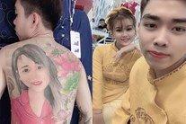 Chàng trai Thanh Hóa làm hội chị em phát cuồng khi chịu đau 24 tiếng xăm hình vợ kín lưng
