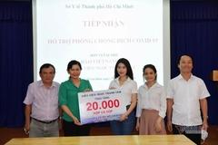 Ngọc Thanh Tâm ủng hộ cá hộp phòng chống Covid-19 trị giá hơn 400 triệu đồng